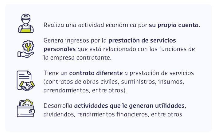 características trabajadores independientes
