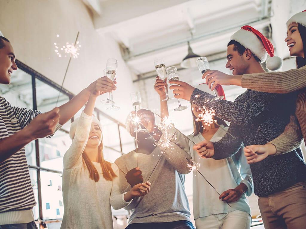 fiesta de fin de año oficina